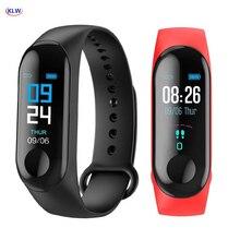 KLW Bluetooth akıllı saat kalp hızı kan basıncı monitörü fitnes aktivite takip cihazı spor akıllı bant bilekliği telefon Mate
