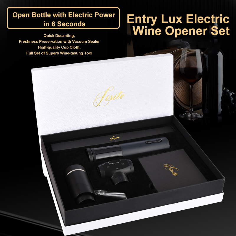 High-end electric wine bottle opener, corkscrew,wine aerator pourer decanter, smart cork set, bar accessories wine set