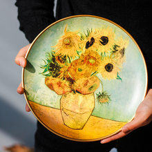 Creative Ceramic Plates Nordic Kitchen Painted Round/square Western Steak Salad Plate Tableware Home Decoration Hanging Plate