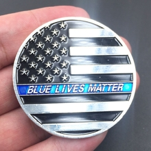 Thin Blue Line Lives Matter Police America's Shield Commemorative Challenge Coin Token Gift Coins for collection  drop shipping