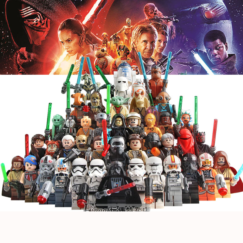 Building Block Compatible With LegoINGlys Star Wars Jedi Yoda Obi-Wan Darth Storm Han Solo Anakin Kids Star Wars Toys