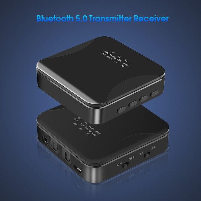 KEBIDU CSR8675 Bluetooth RCA Receiver 5.0 AptX LL 3.5mm Jack Aux Wireless Transmitter for TV Car RCA 3.5 Audio Receiver