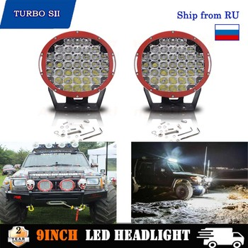 225W 9 Inch LED Work Light Spot & Flood 18000LM Lens Driving Lamp Headlight for Car Truck Off road 4WD SUV 4X4 ATV