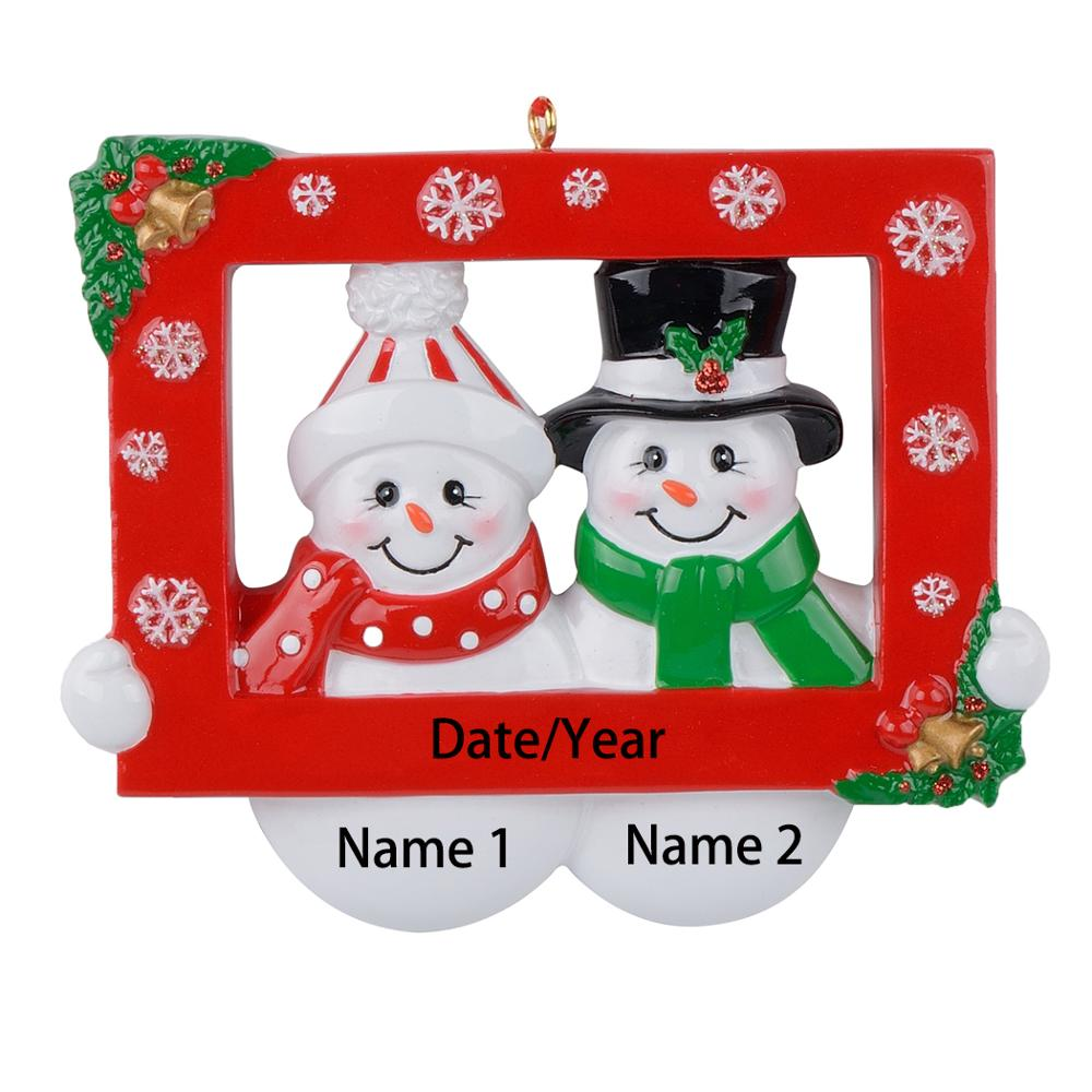 Maxora Snow Couple Party Prop Resin Personalized Christmas Ornaments For Lover Gifts Home Decor Christmas Ornament Souvenir in Pendant Drop Ornaments from Home Garden