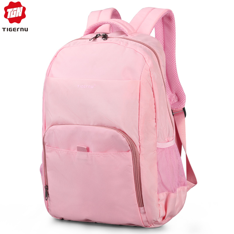Tigernu Spring School Backpack Bag For Teenager Girl Mini Women College Backpack 14.1 Pink/Blue Mochila Feminina