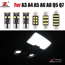 Премиум Canbus автомобиля светодиодная комнатная лампа Интерьер светильник комплект для Audi A3 8L 8P 8V A4 B5 B6 B7 B8 A5 A6 C5 C6 C7 A7 A8 D2 D3 Q3 Q5 Q7