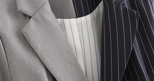 Image 3 - [EAM] Loose Fit black striped split joint bandage Jacket New Lapel Long Sleeve Women Coat Fashion Tide Spring Autumn 2020 JZ065