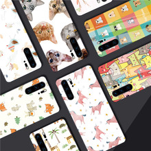 Shockproof Phone Cases for Huawei Mate 20 P20 Lite Nova 3 Lovely Animal Tempered Glass P30 Honor 8X Max 9 10
