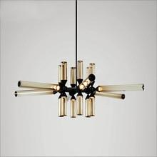 Nordic novelty LED chandelier lighting Post-modern Iron Glass hanging lamp living room restaurant fixtures bedroom luminaires