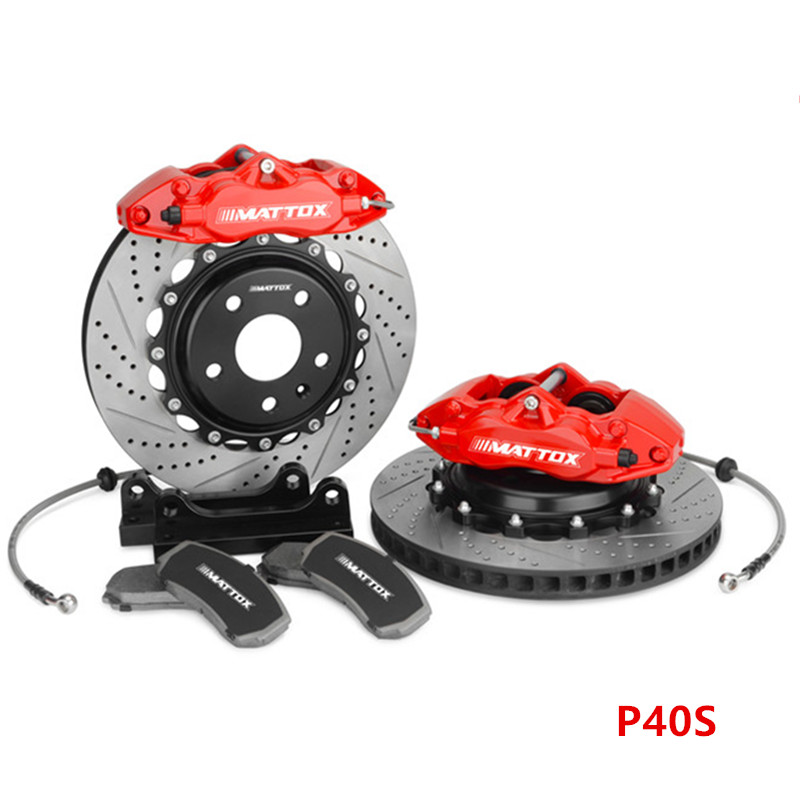 Mattox RACING Car Brake Caliper Brake Drilled Slotted Disc 330*28mm Brake System for Golf 7 MK7 2013 Front Wheel 17inch