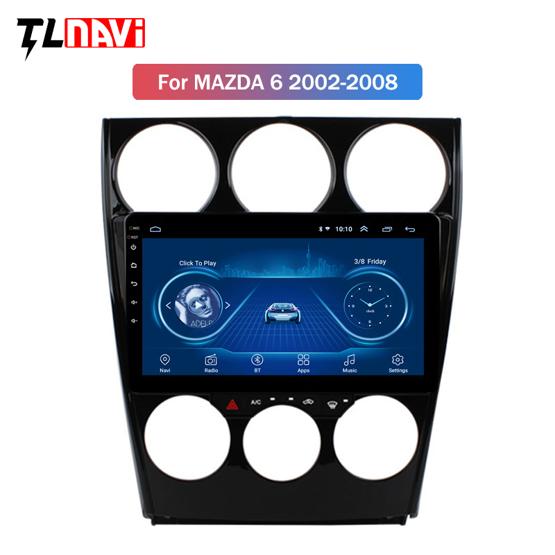 Android 8.1 Car <font><b>GPS</b></font> multimedia player for Old <font><b>Mazda</b></font> <font><b>6</b></font> 2002-2008 Support Steering Wheel Control OBD2 Carplay DVR image