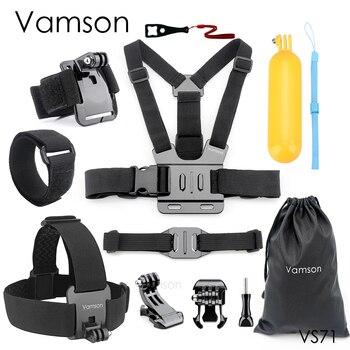 Vamson Accessories for Gopro Hero 9 8 7 6 Head Strap Chest Strap Helmet Belt Floaty Bobber Wrist Band for SJ4000 for Yi 4K VS71