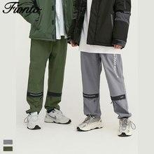 Fionto мужская одежда осень новая Личная молния сшитая английская Печать Шнурок снизу мужские брюки