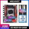 MACHINIST X99 motherboard LGA 2011-3 kit with Intel xeon E5 4620 V3 processor DDR4 16GB(2*8GB) 2666mhz RAM memory M-ATX X99-RS9 1