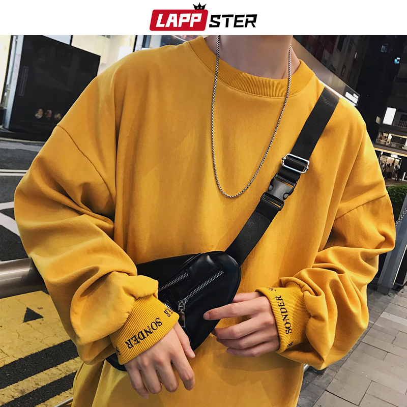 LAPPSTER Men Embroidery Colorful Korean Fashions Hoodies Oversized 2020 Autumn Japanese Streetwear Sweatshirts Harajuku Hoodie