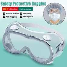 Óculos de proteção de segurança de silicone visão larga respiradouro indireto descartável evitar infecção máscara de olho anti-nevoeiro respingo óculos