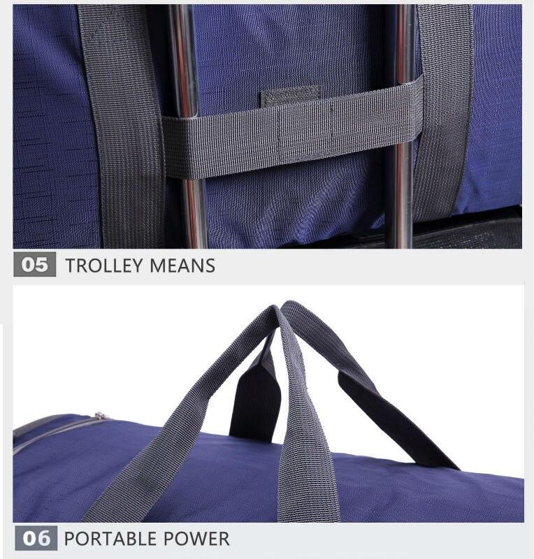Tinyat masculino masculino largetravel saco dobrável portátil