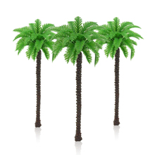 50pcs 1116cm height model green palm trees miniature architecture seashore color plants for diorama tiny beach scenery making