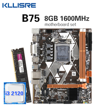 Core I3 2120 Kllisre B75 Desktop SATA3 DDR3 NVME M.2 with 8GB 1600mhz/Ddr3/Desktop/..