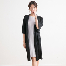 Fold Womens windbreaker Long money Over knee 2019 Early autumn New pattern Temperament Personality coat