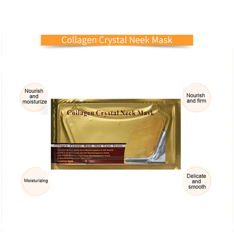 Gold Collagen Eye Neck Mask Crystal Whitening Anti-Aging Neck Care Moisturizing Remove Neck Wrinkle Skin Care Gel Patch TSLM2 Islamabad