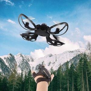 Image 2 - Składany Mini Drone Quadcopter indukcja Drone sterowanie przez telefon komórkowy gest samolot zdalne wykrywanie UFO interakcja latające zabawki