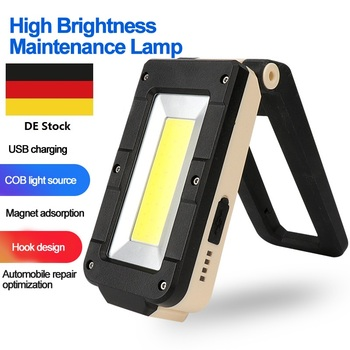 Portable COB+XPE LED Flashlight Torch USB Rechargeable LED Red and white Light Magnet hook Work Lantern + Built-in battery portable xpe led 1000lm display rechargeable wrist watch flashlight torch waterproof