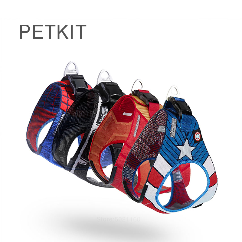 Hot PETKIT Dog chest strap harnesses Marvel hero vest style traction rope small medium sized dog Outdoor protection Pet products(China)