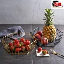 Креативная металлическая корзина для фруктов Кованое железо