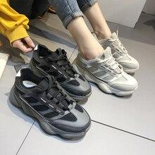 Women's sneakers Women Vulcanize Shoes Flat Shoe Fashion Casual Shoes Lace-Up Breathable Studen Sneakers Calzado Deportivo Mujer