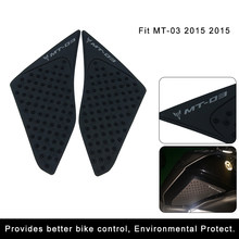 For Yamaha MT-03 MT03 MT 03 2015 2016 Motorcycle Accessories Anti slip Tank Pad Side Gas Knee Grip Protector Stickers(China)
