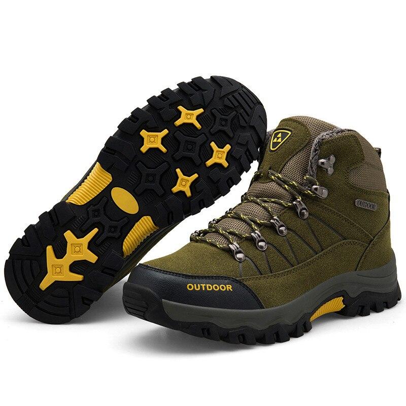 Ankle Boots Men Black Large Size 11 Winter Boots Men Shoes Warm Fur Snow Boots Men Wear-resistant Adult Male Tennis