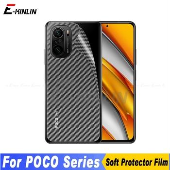 3D z włókna węglowego tylna pokrywa ochronna na ekran dla XiaoMi PocoPhone POCO F3 C3 X3 NFC M3 M2 F2 Pro F1 x2 naklejki Film nie szkło tanie i dobre opinie E-KINLIN Matte CN (pochodzenie) Folia na tył Back Rear Cover Screen Protector Guard Protective Film 3D Soft Carbon Fiber(Not Tempered Glass)