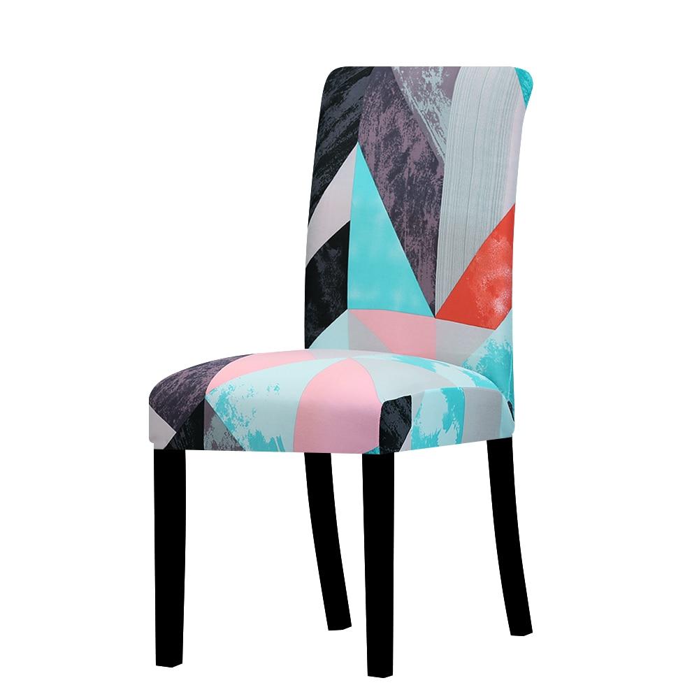 Натяжные чехлы для стульев с принтом, большие эластичные чехлы для стульев, чехлы для ресторанов, банкетов, украшения для домашней вечеринк...