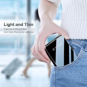Image 5 - FLOVEME Power Bank 20000mAh Dual USB Mirror Screen LED Display Powerbank Portable Charger For Xiaomi External Battery Poverbank