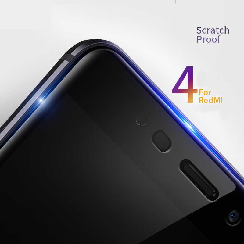 9D 保護 Xiaomi Redmi 注 4 4 × 5 5A Pro のスクリーンプロテクター Redmi 5 プラス S2 4X 5A 強化ガラスフィルムケース