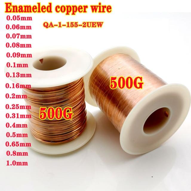 500g/roll 0.1mm 0.2mm 0.4mm 0.5mm 0.65mm 0.8mm 1.0mmCable נחושת חוט מגנט חוט אמייל נחושת מתפתל חוט סליל נחושת חוט