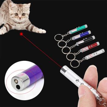 1 sztuk śmieszne zwierzęta Laser LED zabawka dla kota 5MW czerwona kropka światło laserowe zabawki celownik laserowy 650Nm wskaźnik pióro laserowe interaktywna zabawka z kotem tanie i dobre opinie Other support About 7cm