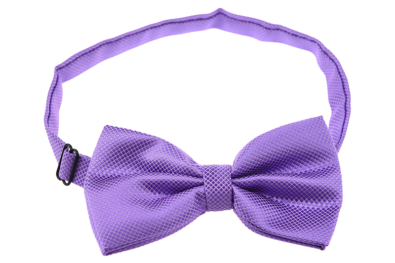Men's Plain Polyester Pre Tied Wedding Bow Tie (light Purple)