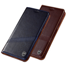 Cowhide Skin Genuine Leather Flip Holster For OPPO Reno 2Z Phone Case Magnetic Cover For OPPO Reno 2 OPPO Reno Z Phone Bag Coque cheap NEW CEED Flip Case Flip case with kickstand Matte Plain Dirt-resistant With Card Pocket Anti-knock Adsorption Cow split leather