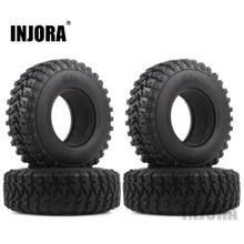 """4 pièces 1.9 """"caoutchouc Voodoo KLR pneus de roue 105*35mm pour 1:10 RC chenille axiale SCX10 D90 TF2 MST Tamiya"""