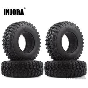 """Image 1 - 4 pièces 1.9 """"caoutchouc Voodoo KLR pneus de roue 105*35mm pour 1:10 RC chenille axiale SCX10 D90 TF2 MST Tamiya"""