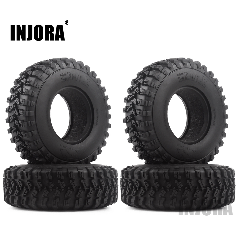 "4PCS 1.9"" Rubber Voodoo KLR Wheel Tires 105*35mm For 1:10 RC Crawler Axial SCX10 D90 TF2 MST Tamiya"