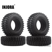 """4PCS 1.9"""" Rubber Voodoo KLR Wheel Tires 105*35mm for 1:10 RC Crawler Axial SCX10 D90 TF2 MST Tamiya"""