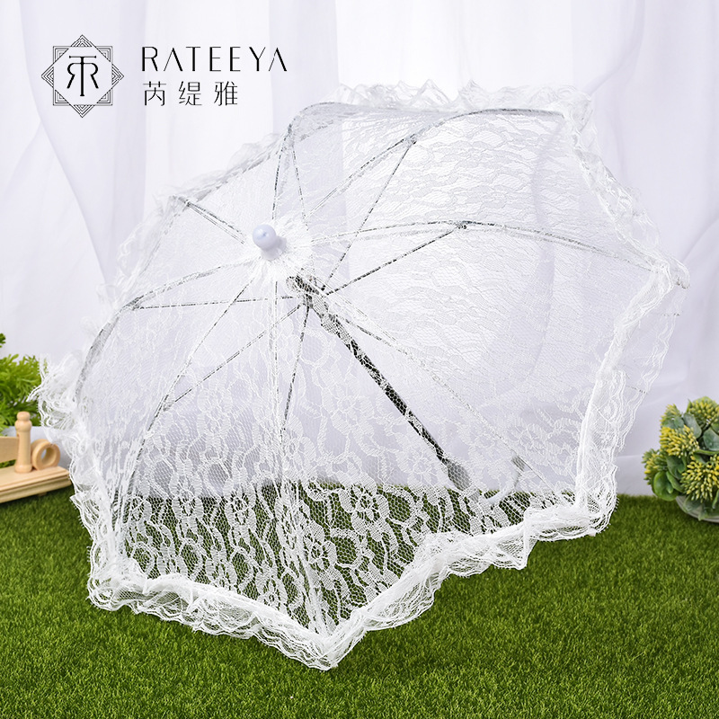 New Style Wedding Restonic San Bride Lace Tiny Umbrella Stage Performance Studio Props Wedding Supplies Wholesale