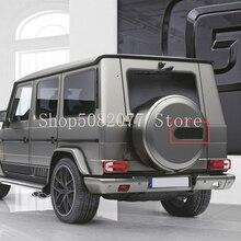 Đen Sợi Carbon Ngôi Sao B Huy Hiệu Logo Cho Xe Mercedes AMG Brabus W463 G500 G550 G55 G63 Xe Kiểu Dáng Thân Cây Dự Phòng vỏ Xe Miếng Dán