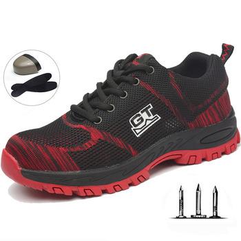 Nowych mężczyzna buty Plus rozmiar Unisex na świeżym powietrzu ze stali Toe ochrony przebicie obuwie ochronne męskie treningu na świeżym powietrzu buty męskie tanie i dobre opinie EOOPOD Profesjonalne Summer2018 Training shoes Pasuje prawda na wymiar weź swój normalny rozmiar Formotion Ptpp CLAY