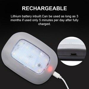 Image 3 - Safego luz de lectura de coche LED Universal, lámpara magnética recargable por USB para techo de coche, luz nocturna blanca de 5V CC
