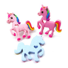 Safe Baby Cartoon Teether Cute Animal Unicorn Infant DIY Ring Necklace Teether New Toddle Silicone Chew Charms Kids Teething Toy(China)
