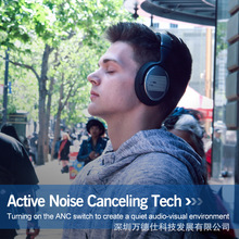 Bluetooth Headphones Wireless Earphone Over-ear Noise HiFi Stereo Canceling Gaming Headset with Mic Support TF Card